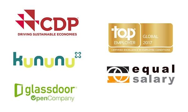 CDP Top employer kununu equal salary glassdoor logos